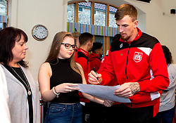Aden Flint of Bristol City signs autographs during Bristol City's visit to the Children's Hospice South West at Charlton Farm - Mandatory by-line: Robbie Stephenson/JMP - 21/12/2016 - FOOTBALL - Children's Hospice South West - Bristol , England - Bristol City Children's Hospice Visit