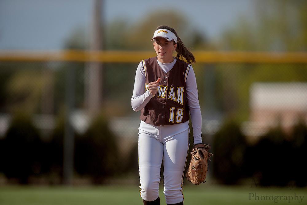 Rowan University Softball Junior LeAnne Miller (18); Rutgers-Camden softball at Rowan University on Tuesday April 10, 2012 in Glassboro, NJ. (photo / Mat Boyle)