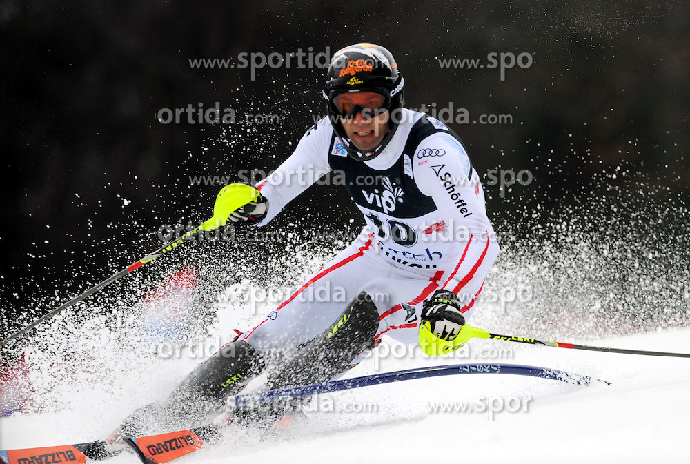 06.01.2013, Crveni Spust, Zagreb, CRO, FIS Ski Alpin Weltcup, Slalom, Herren, 1. Lauf, im Bild Mario Matt (AUT) // Mario Matt of Austria in action during 1st Run of the mens Slalom of the FIS ski alpine world cup at Crveni Spust course in Zagreb, Croatia on 2013/01/06. EXPA Pictures © 2013, PhotoCredit: EXPA/ Erich Spiess