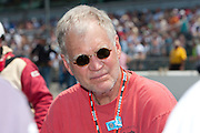 David Letterman seen on the grid before the start of the Indy 500.<br /> Photo by Michael Hickey