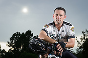 Portrait of Cyclist Steven Martine photographed in a Florida State Park in 2018.