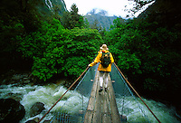 Hiking the Milford Track, Fiordland National Park, South Island, New Zealand.