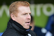 Bolton Wanderers manager Neil Lennon during the Sky Bet Championship match between Reading and Bolton Wanderers at the Madejski Stadium, Reading, England on 21 November 2015. Photo by Mark Davies.