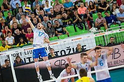 Tine Urnaut of Slovenia during friendly volleyball match between national teams of Slovenia and Brasil in Arena Stozice on 9. September 2015 in , Ljubljana, Slovenia. Photo by Grega Valancic / Sportida