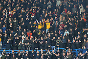 Wolverhampton Wanderers fans during the Premier League match between Chelsea and Wolverhampton Wanderers at Stamford Bridge, London, England on 10 March 2019.