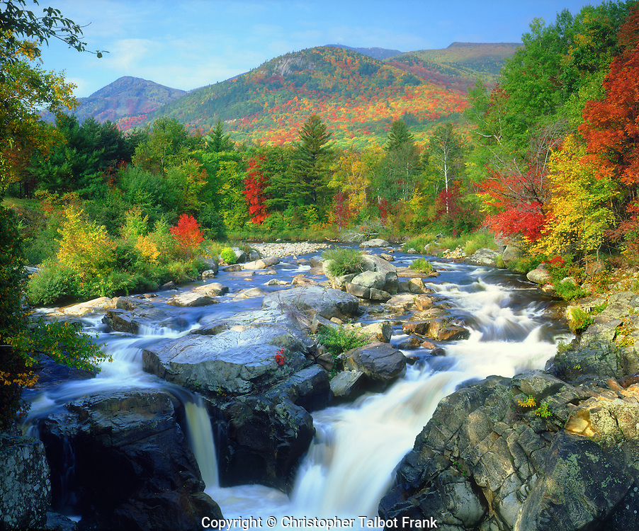 On a trip to the Northeast to photograph fall colors, I shot this amzing photo of this Adirondack Mountain waterfall.
