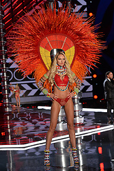 Candice Swanepoel on the catwalk for the Victoria's Secret Fashion Show at the Mercedes-Benz Arena in Shanghai, China