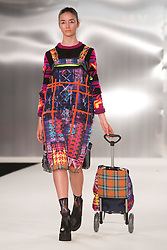 © Licensed to London News Pictures. 02/06/2014. London, England. De Montfort University Leicester, collection by Amy Crofts. Graduate Fashion Week 2014, Runway Show at the Old Truman Brewery in London, United Kingdom. Photo credit: Bettina Strenske/LNP