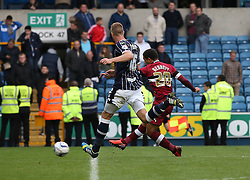 Derby County's Mason Bennett scores  - Photo mandatory by-line: Robin White/JMP - Tel: Mobile: 07966 386802 14/09/2013 - SPORT - FOOTBALL -  The Den - London - Millwall V Derby County - Sky Bet League Championship