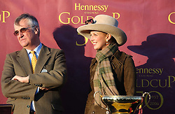 MAURICE HENNESSY and LADY GABRIELLA WINDSOR at the 50th running of the Hennessy Gold Cup at Newbury Racecourse, Berkshire on 25th November 2006.<br />