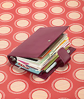 maroon leather dayplanner