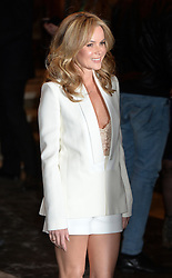 Amanda Holden arrives at the show.<br /> Celebrities attend the opening night of new West End show 'I Can't Sing' at The London palladium, London, UK. Wednesday, 26th March 2014. Picture by Ben Stevens / i-Images