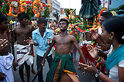 The Adi Vel festival on the streets of Colombo. <br /> Adi Vel Festival Hindu has a unique history going back to 1874.<br /> August 2013.