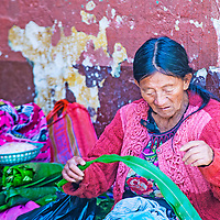 CHICHICASTENANGO , GUATEMALA - JULY 26 : Portrait of an old Guatemalan woman at the Chichicastenango Market on July 26 2015. This native market is the most colorful in Central America