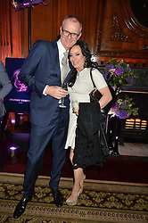 "MARK DAECHE and NANCY DELL'OLIO at the presentation of Le Prix Champagne De La Joie de Vivre to Stephen Webster in celebration of his long standing contribution to ""Joie de Vivre' held at the Council Room, One Great George Street, London on 22nd April 2015."
