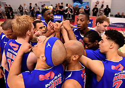 The team celebrate after the game  - Mandatory byline: Joe Meredith/JMP - 11/12/2015 - Basketball - SGS Wise Campus - Bristol, England - Bristol Flyers v Plymouth Raiders - British Basketball League