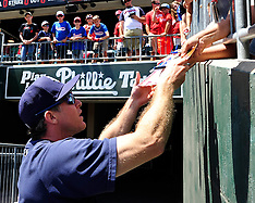 Chase Utley at IronPigs - August 2015