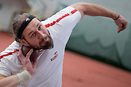 Tomasz Majewski while his training session at Sport's Academy (AWF) in Warsaw.<br /> Tomasz Majewski is a Polish shot putter and a double Olympic gold medalist (Beijing 2008 and London 2012).<br /> <br /> Poland, Warsaw, January 28, 2014<br /> <br /> Picture also available in RAW (NEF) or TIFF format on special request.<br /> <br /> For editorial use only. Any commercial or promotional use requires permission.<br /> <br /> Mandatory credit:<br /> Photo by © Adam Nurkiewicz / Mediasport