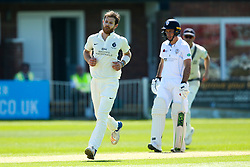 James Harris of Middlesex celebrates taking the wicket of Ben Slater of Derbyshire - Mandatory by-line: Robbie Stephenson/JMP - 20/04/2018 - CRICKET - The 3aaa County Ground  - Derby, England - Derbyshire CCC v Middlesex CCC - Specsavers County Championship Division Two