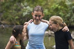 July 21, 2019 - Three Girls Together (Credit Image: © Carson Ganci/Design Pics via ZUMA Wire)