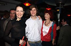 Left to right, PLUM SYKES, JOSH SYKES and their mother VALERIE GOAD at a party to celebrate the publication of Tom Sykes's book 'What Did I Do Last Night?' held at Centuary, Shaftesbury Avenue, London on 16th January 2007.<br /><br />NON EXCLUSIVE - WORLD RIGHTS