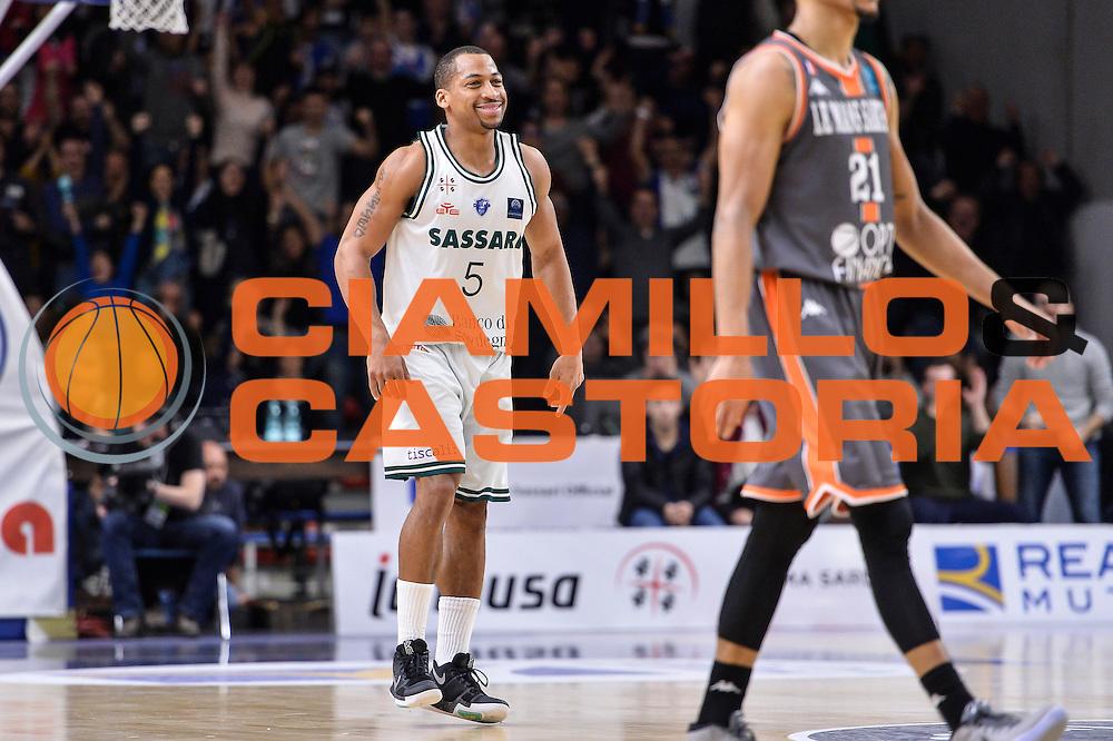 David Bell<br /> Banco di Sardegna Dinamo Sassari - Le Mans Sarthe<br /> FIBA Basketball Champions League 2016/2017<br /> Ottavi di Finale<br /> Sassari 01/03/2017<br /> Foto Ciamillo-Castoria