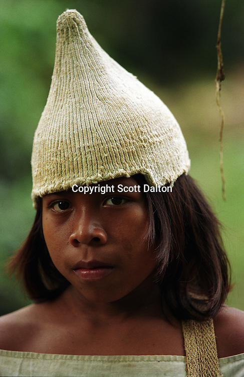 A young Kogi Indian boy in the Sierra Nevada Mountains, on Colombia?s Caribbean coast in 2004. (Photo/Scott Dalton)