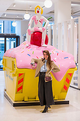 "© Licensed to London News Pictures. 04/03/2019. LONDON, UK.  ""Nothing To Wear Again!"", 2019, by Serbian artist Maja Djordjevic (pictured) is unveiled at Selfridges.  The commission is by SKIP Gallery and is part of Selfridges ongoing arts campaign.  The installation is in place on the ground floor of the department store 4 to 17 March 2019.  Photo credit: Stephen Chung/LNP"