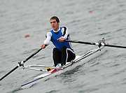 Caversham, Nr Reading, GREAT BRITAIN, Charles COUSINS, BIRO Sculling Test, invited scullers under go a time trial and then a six abreast race over 2000 meters at the British International Rowing complex at Caversham Lake, on Wed 22.11. 2006. [Photo, Peter Spurrier/Intersport-images]. Rowing course: GB Rowing Training Complex, Redgrave Pinsent Lake, Caversham, Reading