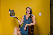 Environmental portrait of Katie Lay with HIPAA Risk Management in Fayetteville, Arkansas.