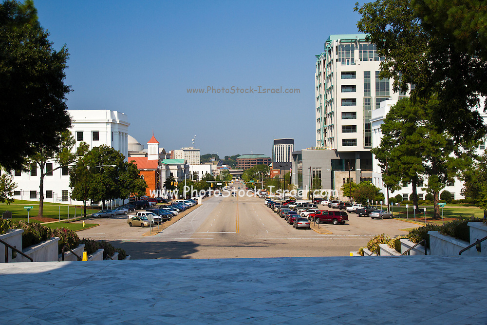 street view as seen from the Alabama state capitol building Montgomery, AL, USA