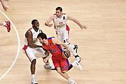 DESCRIZIONE : Madrid Eurolega Euroleague 2014-15 Final Four Semifinal Semifinale Cska Moscow Olympiacos Piraeus Athens Cska Mosca Olympiacos Atene <br /> GIOCATORE : Milos Teodosic<br /> SQUADRA :  CSKA Mosca<br /> CATEGORIA : palleggio blocco<br /> EVENTO : Eurolega 2014-2015<br /> GARA : Cska Mosca Olympiacos Atene<br /> DATA : 15/05/2015<br /> SPORT : Pallacanestro<br /> AUTORE : Agenzia Ciamillo-Castoria/GiulioCiamillo<br /> Galleria : Eurolega 2014-2015<br /> DESCRIZIONE : Madrid Eurolega Euroleague 2014-15 Final Four Semifinal Semifinale Cska Moscow Olympiacos Piraeus Athens Cska Mosca Olympiacos