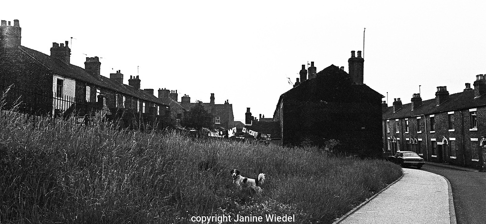 Landscape outside Stoke on Trent North Stafforshire The West Midlands of England 1970s