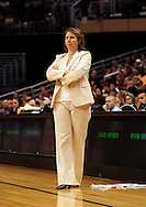 June 10, 2010; Phoenix, AZ, USA; Minnesota Lynx head coach Cheryl Reeve reacts during the first half in at US Airways Center.  Mandatory Credit: Jennifer Stewart-US PRESSWIRE