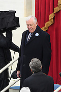 House Minority Whip Steny Hoyer arrives for the Inauguration of President-elect Donald Trump as the 45th President on Capitol Hill January 20, 2017 in Washington, DC.