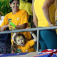 Australian fans at the Water polo, Australia v Montenegro..Yingdong Natatorium of National Olympic Sports Center 18-8-08   ..Photo: Grant Treeby/WSP
