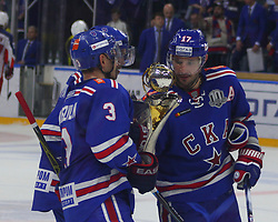 August 21, 2017 - Saint-Petersburg, Russia - Of The Russian Federation. Saint-Petersburg. Palace of sports ''Ice''. KHL. Continental hockey League season 2017/2018. Hockey match SKA - CSKA. SKA won with the score 4:2 and won the Cup opening KHL. (Credit Image: © Russian Look via ZUMA Wire)