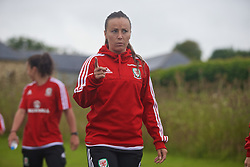 CARDIFF, WALES - Friday, August 19, 2016: Wales' Natasha Harding during a pre-match walk at the Vale Resort ahead of the international friendly match against Republic of Ireland. (Pic by Laura Malkin/Propaganda)