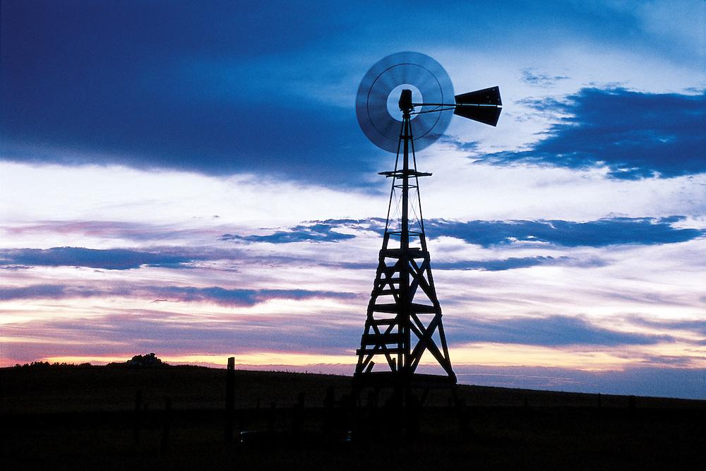 Wyoming. Windmill north of Cheyenne