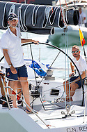 Palma de Mallorca, 06-08-2015<br /> <br /> <br /> King Felipe joins the Copa del Rey sail contest at the sailing vessel  AIFOS.<br /> <br /> <br /> Royalportraits Europe/Bernard Ruebsamen