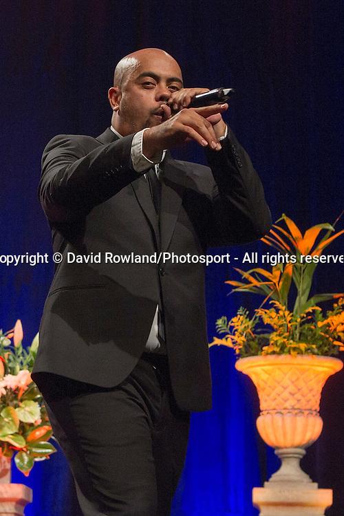 PNC and Taye Williams entertain at the Skycity Breakers Awards, 2013-14, Skycity Convention Centre, Auckland, New Zealand, Friday, March 28, 2014. Photo: David Rowland/Photosport