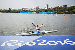 Dejan Fabcic of Slovenia after competing in Canoe Sprint Men's KL2 Final during Day 8 of the Rio 2016 Summer Paralympics Games on September 15, 2016 in Lagoa Canoe Stadium, Rio de Janeiro, Brazil. Photo by Vid Ponikvar / Sportida