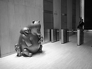 """Mama Bear"" by Tom Otterness at the 57th street passage."