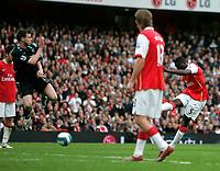 Photo: Tom Dulat.<br /> Arsenal v Bolton Wanderers. The FA Barclays Premiership. 20/10/2007.<br /> Kolo Toure of Arsenal opened the scoring, Arsenal leads 1-0