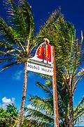 Pololu Valley visitors sign, North Kohala, The Big Island, Hawaii USA