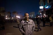 Protestor anti-gouvernment in Tahrir square in Cairo on February 5, 2010.© ALESSIO ROMENZI