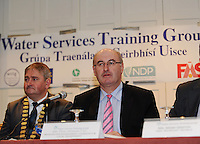 "Cllr. Michael Maher - Mayor of Galway County and Minister Phil Hogan at the Water Services Training Group 15th Annual Conference entitled "" Water Services in Ireland-Organisational Modernisation and New Challenges"". Photo:Andrew Downes. Photo issued with compliments, no reproduction fee."