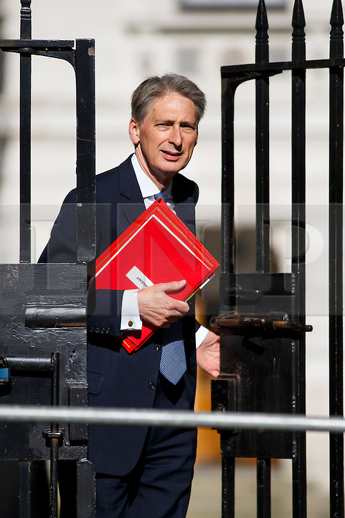 © Licensed to London News Pictures. 09/06/2015. Westminster, UK. Foreign Secretary PHILIP HAMMOND attending to a cabinet meeting in Downing Street on Tuesday, 9 June 2015. Photo credit: Tolga Akmen/LNP