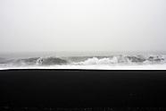 Black beach and the North Atlantic ocean