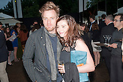 Ewan McGregor; Eve Mavrakis, The Summer party 2011 co-hosted by Burberry. The Summer pavilion designed by Peter Zumthor. Serpentine Gallery. Kensington Gardens. London. 28 June 2011. <br /> <br />  , -DO NOT ARCHIVE-© Copyright Photograph by Dafydd Jones. 248 Clapham Rd. London SW9 0PZ. Tel 0207 820 0771. www.dafjones.com.